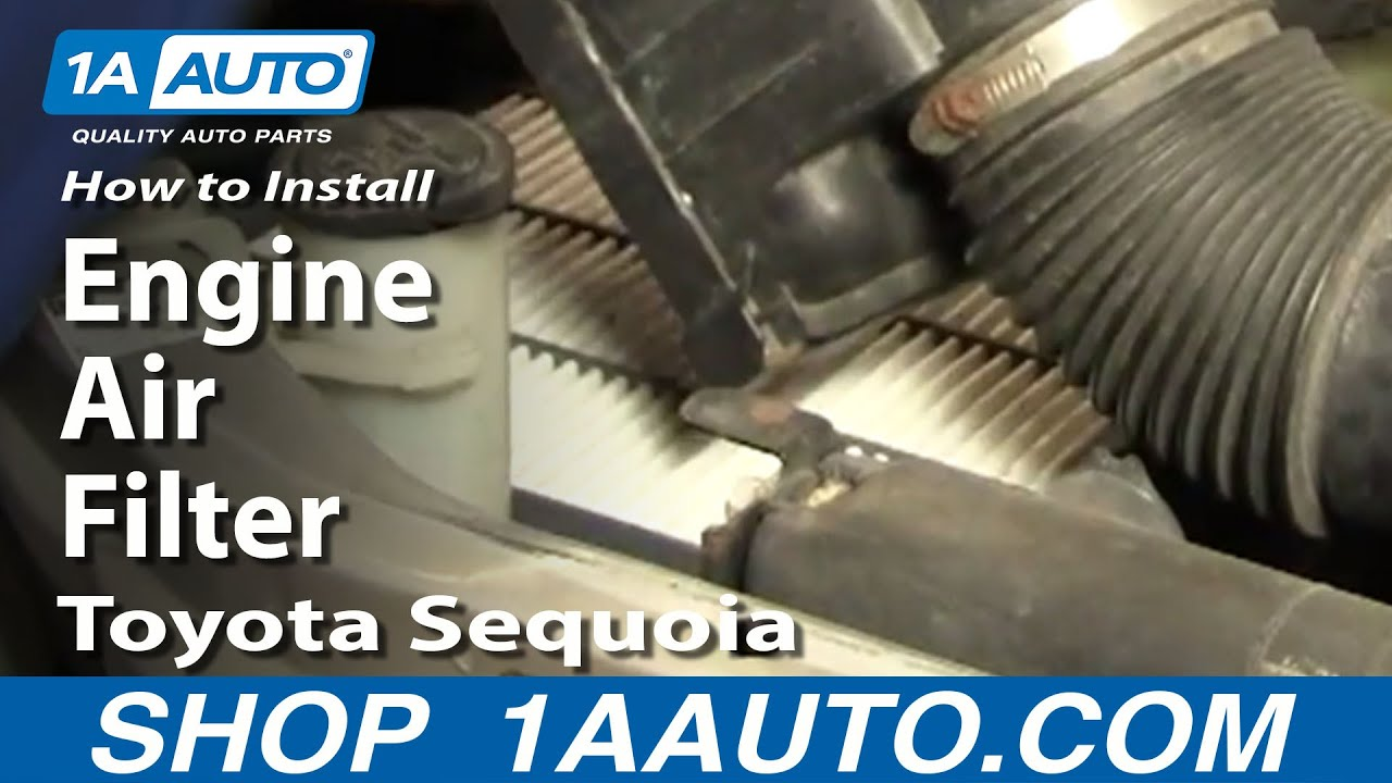 How To Replace Engine Air Filter 01-04 Toyota Sequoia