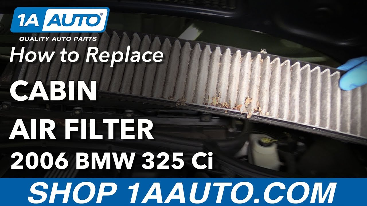 How to Replace Cabin Filter 01-06 BMW 325Ci E46