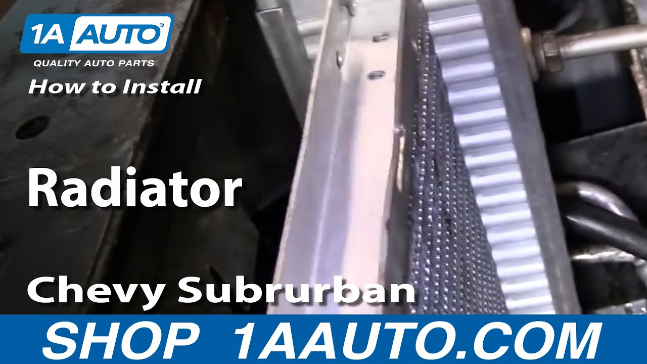 How To Replace Radiator 92-01 Chevy Suburban [PART 2]