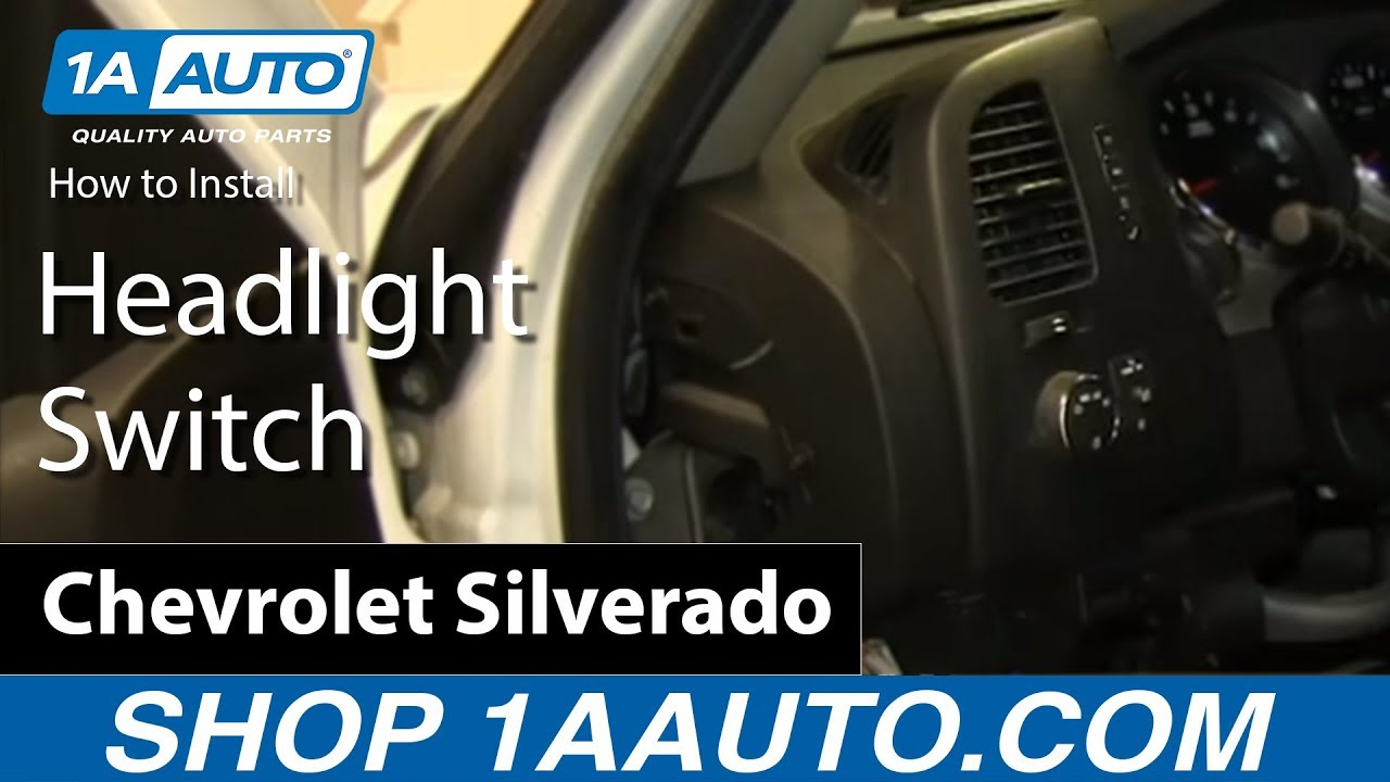How to Replace Headlight Switch 07-13 Chevy Silverado 1500