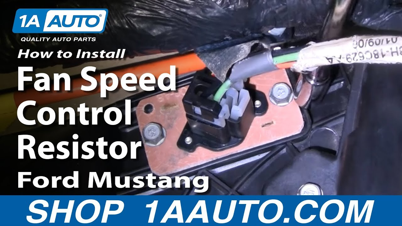How to Replace Blower Motor Resistor 94-04 Ford Mustang ...