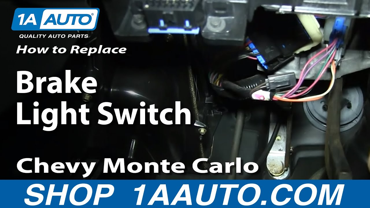 replace brake light switch   chevy monte carlo