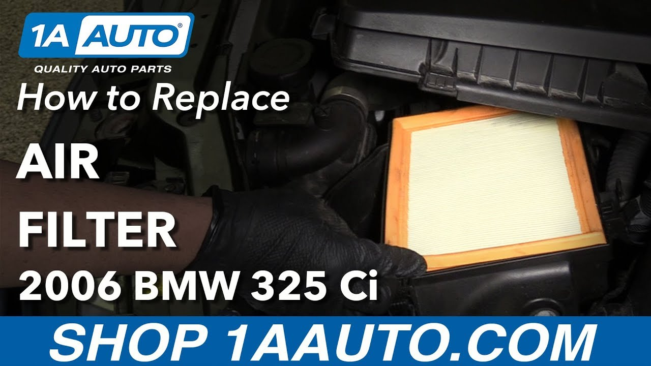 How to Replace Air Filter 06-13 BMW 325Ci E46