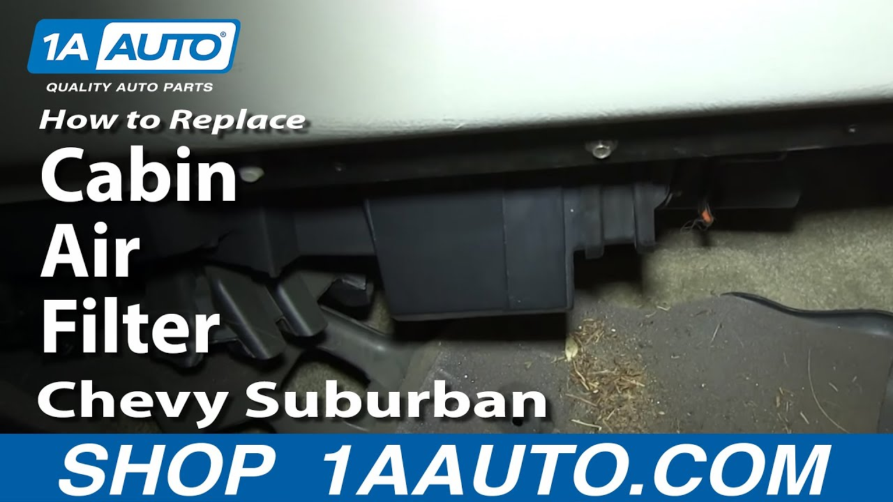 how to replace cabin air filter 00 02 chevy suburban 1a auto