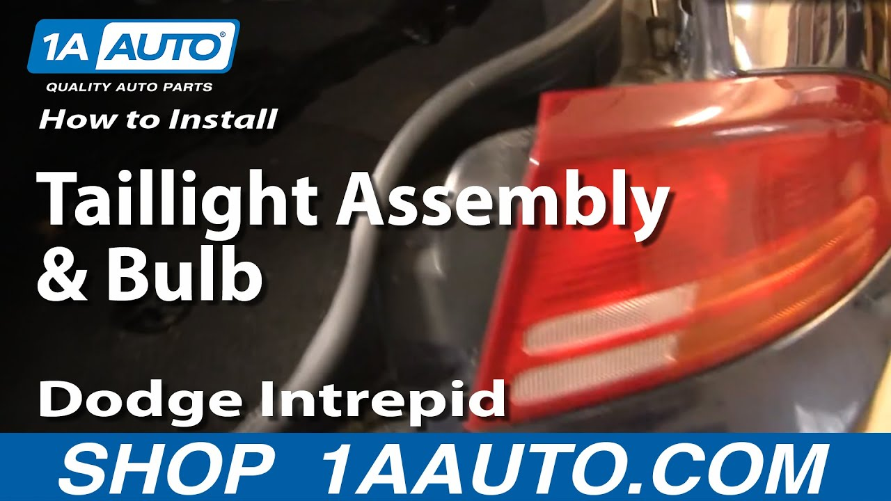 How To Replace Taillight Assembly and Bulb 98-04 Dodge Intrepid