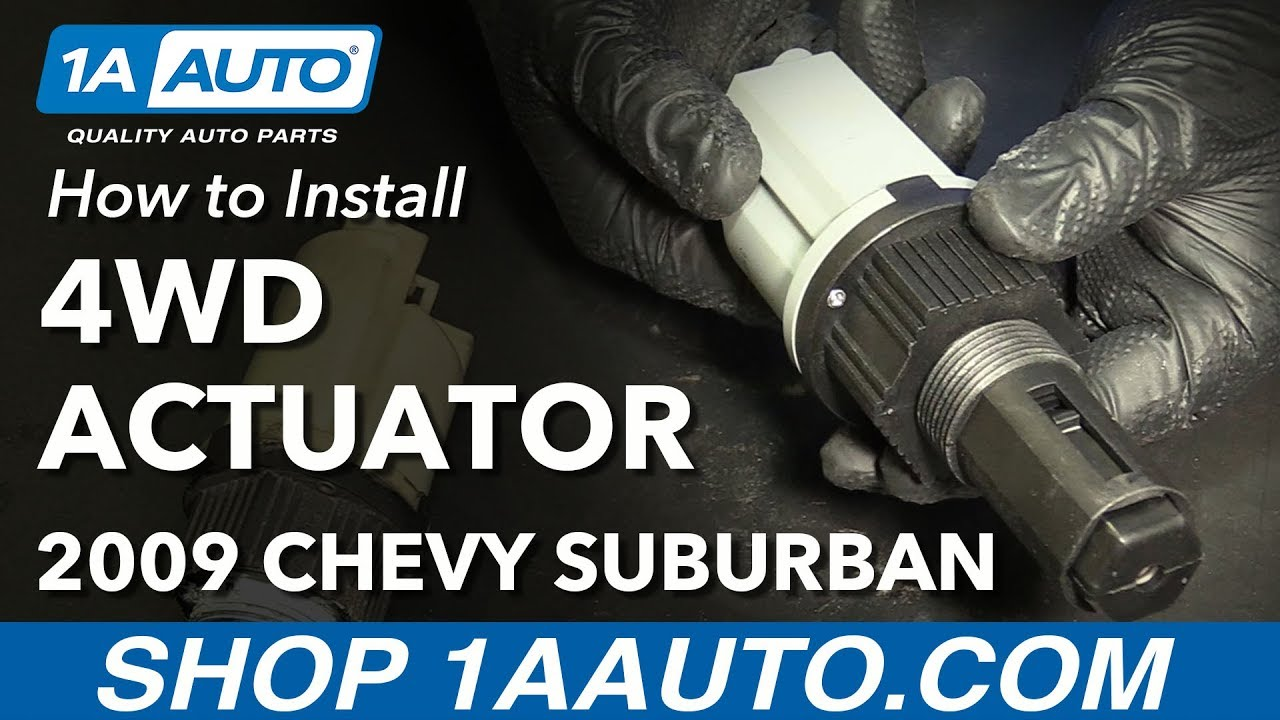 How To Install Replace Front Four Wheel Drive Actuator