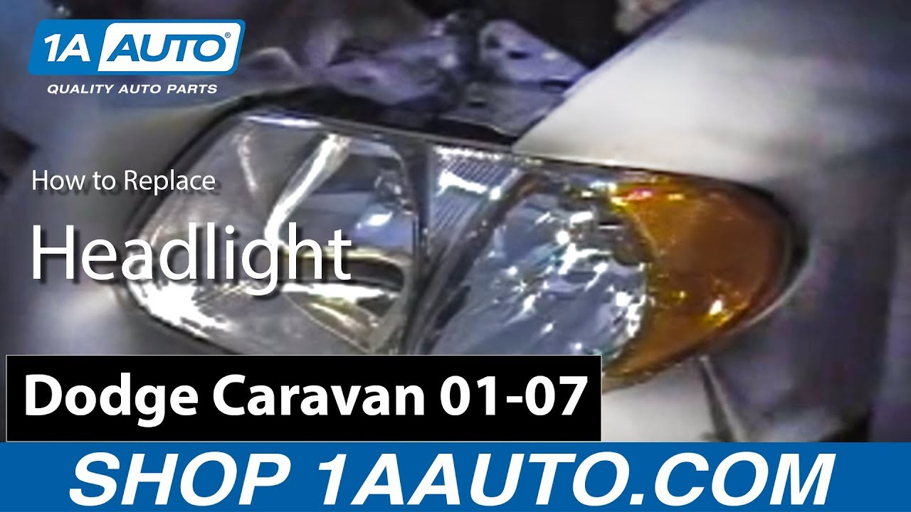 How to Replace Headlight 01-03 Chrysler Voyager