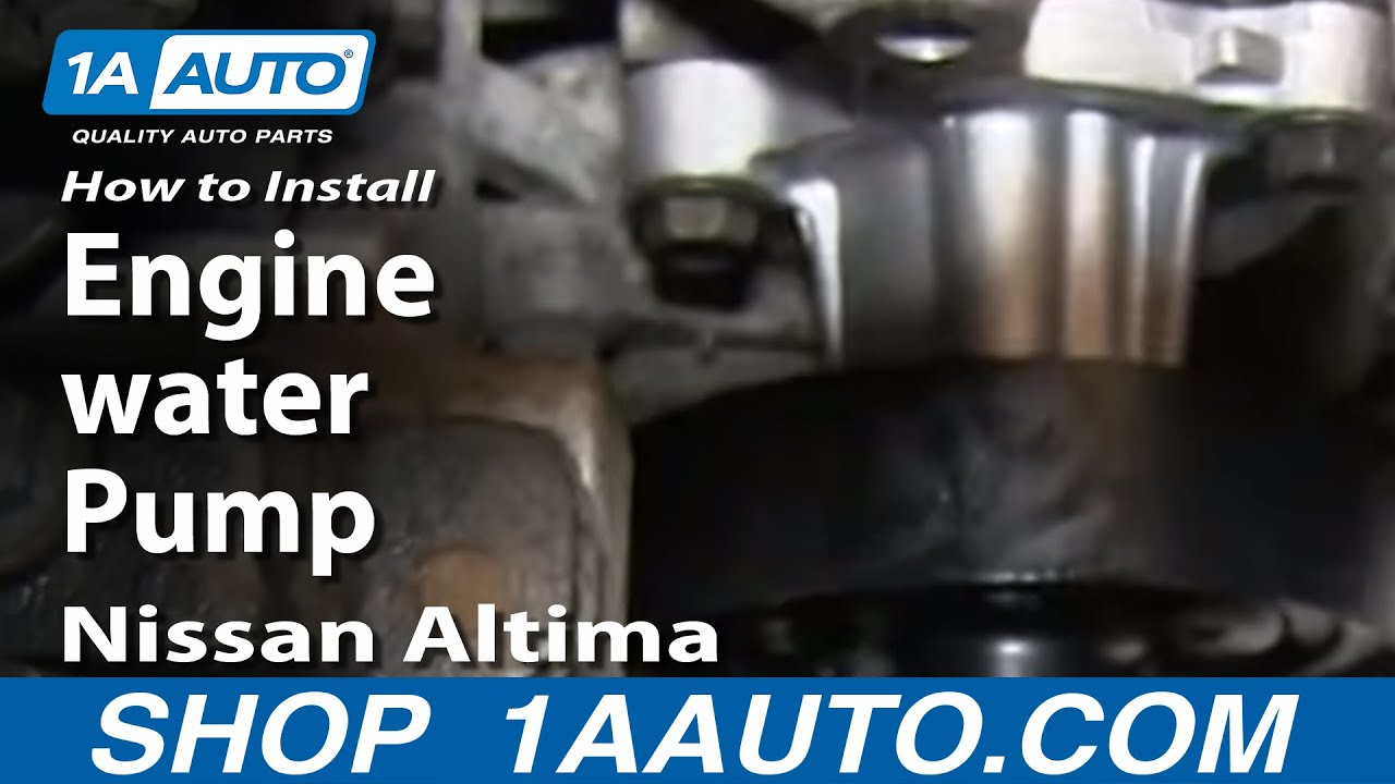 How to Replace Engine Water Pump 02-08 Nissan Altima