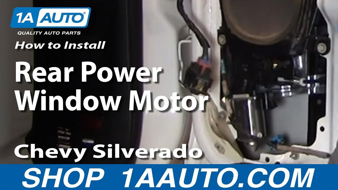 How to Replace Power Window Motor 99-04 GMC Sierra 2500