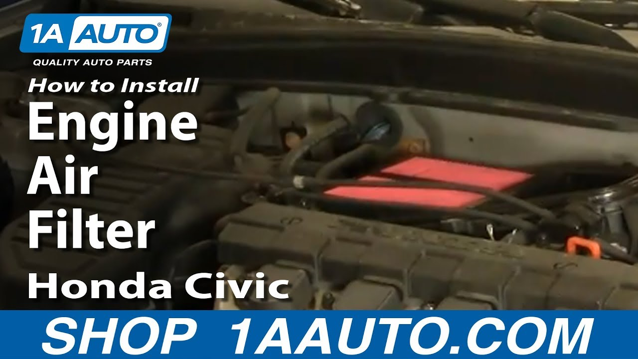 How To Replace Engine Air Filter 01-05 Honda Civic 1.7L