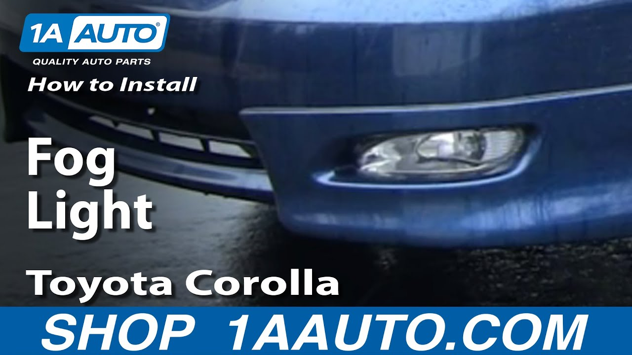 How to Replace Fog/Driving Light 04-08 Toyota Corolla