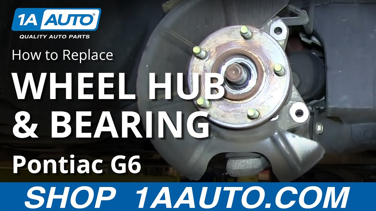 How to Replace Front Wheel Hub Bearing 05-10 Pontiac G6 Saturn Aura