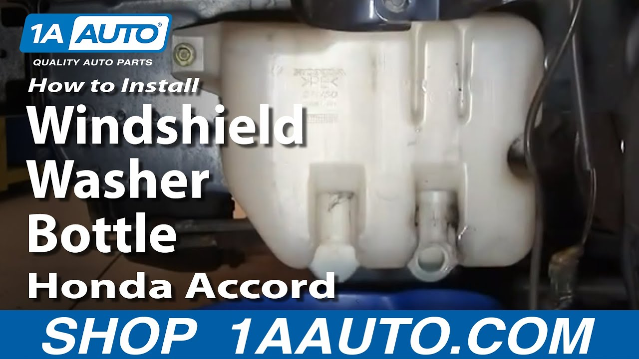 How to Replace Windshield Washer Reservoir 98-02 Honda Accord