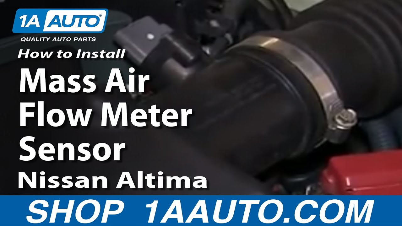 How to Replace Mass Air Flow Sensor 02-03 Nissan Altima