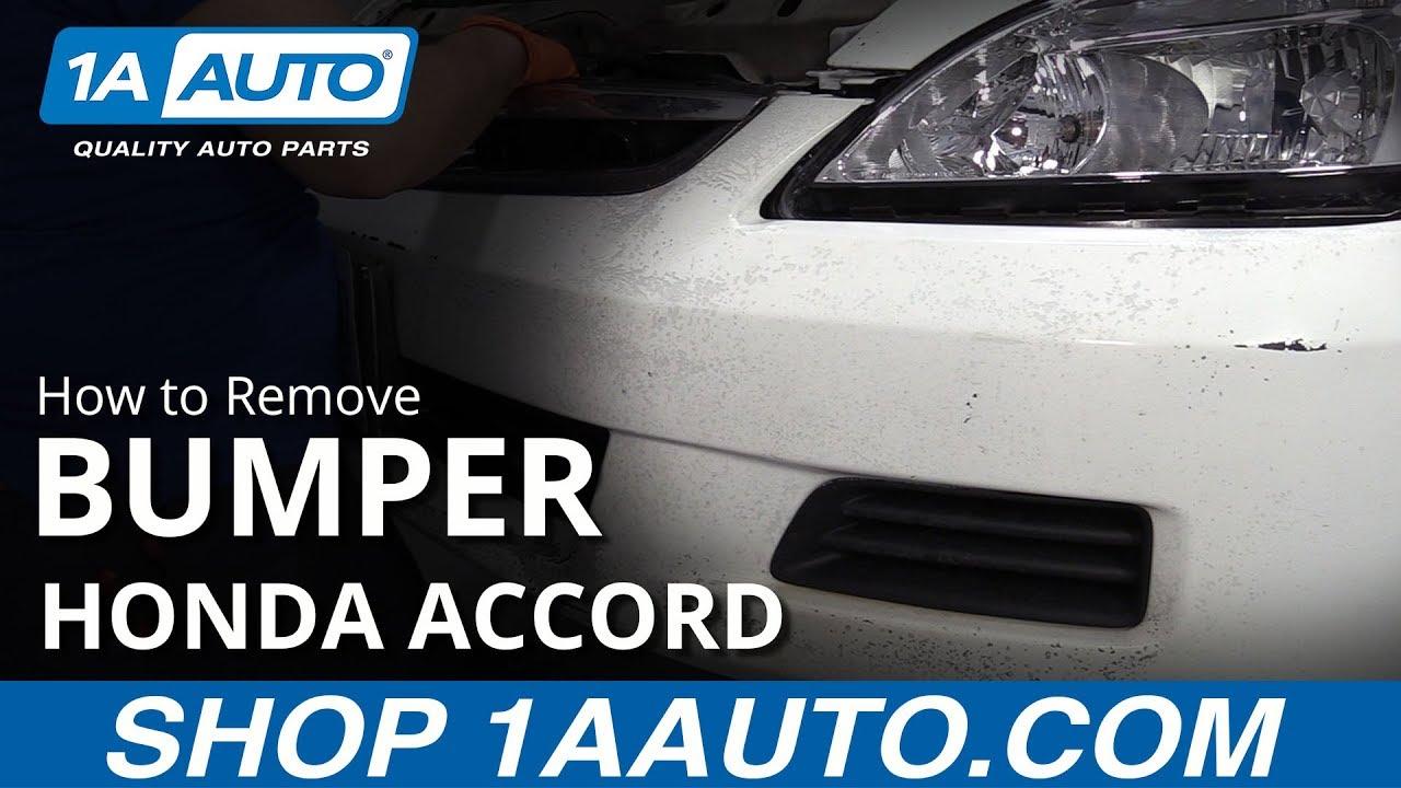 How to Remove Bumper 03-07 Honda Accord
