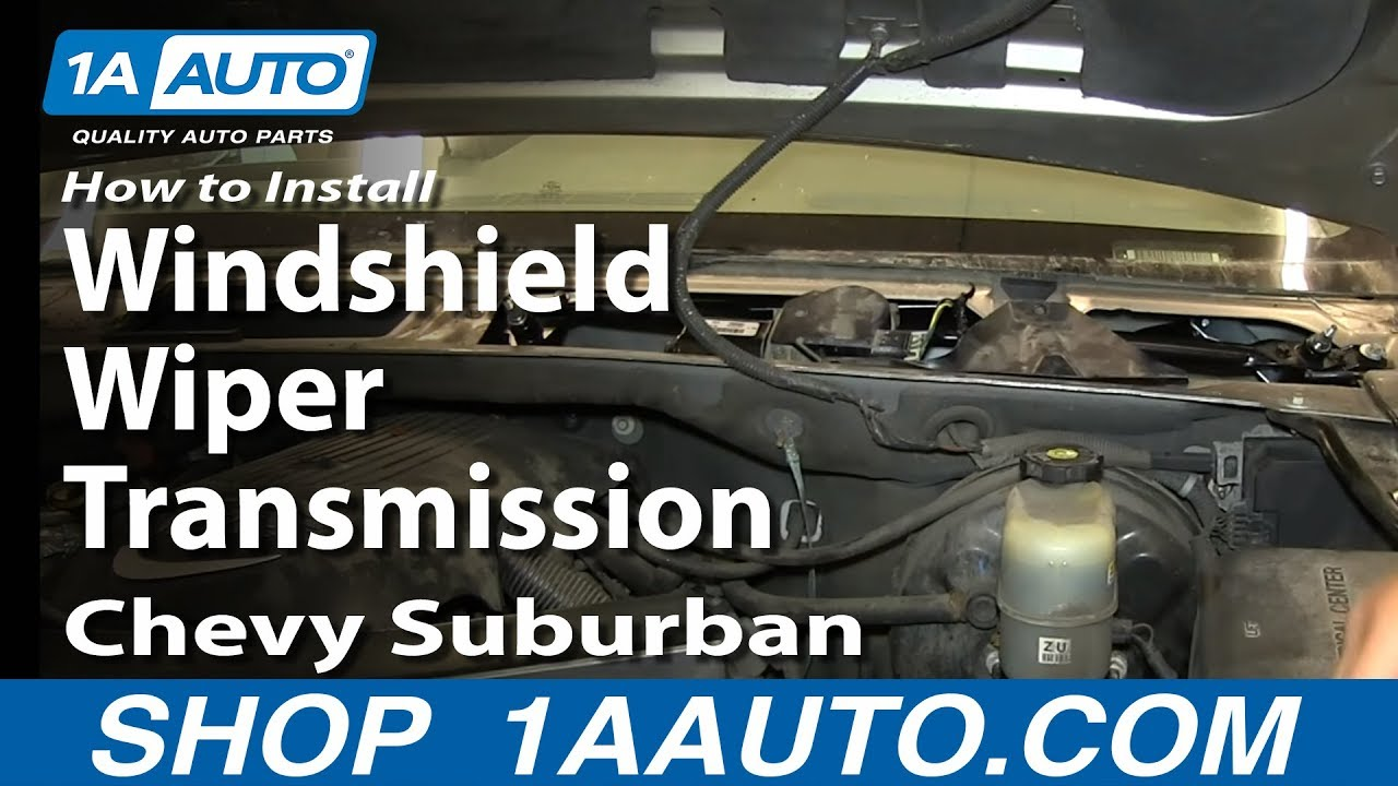 How to Replace Windshield Wiper Transmission 99-03 Chevy ...