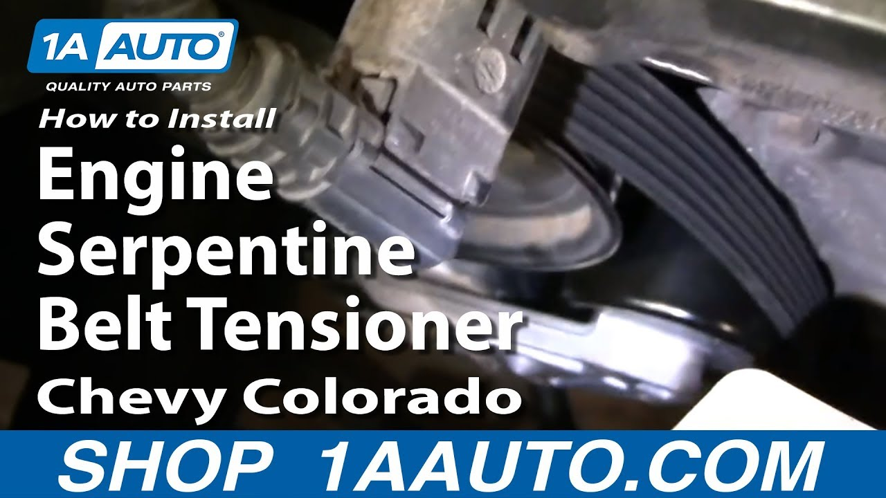 how to replace serpentine belt tensioner with pulley 04-12 chevy colorado |  1a auto