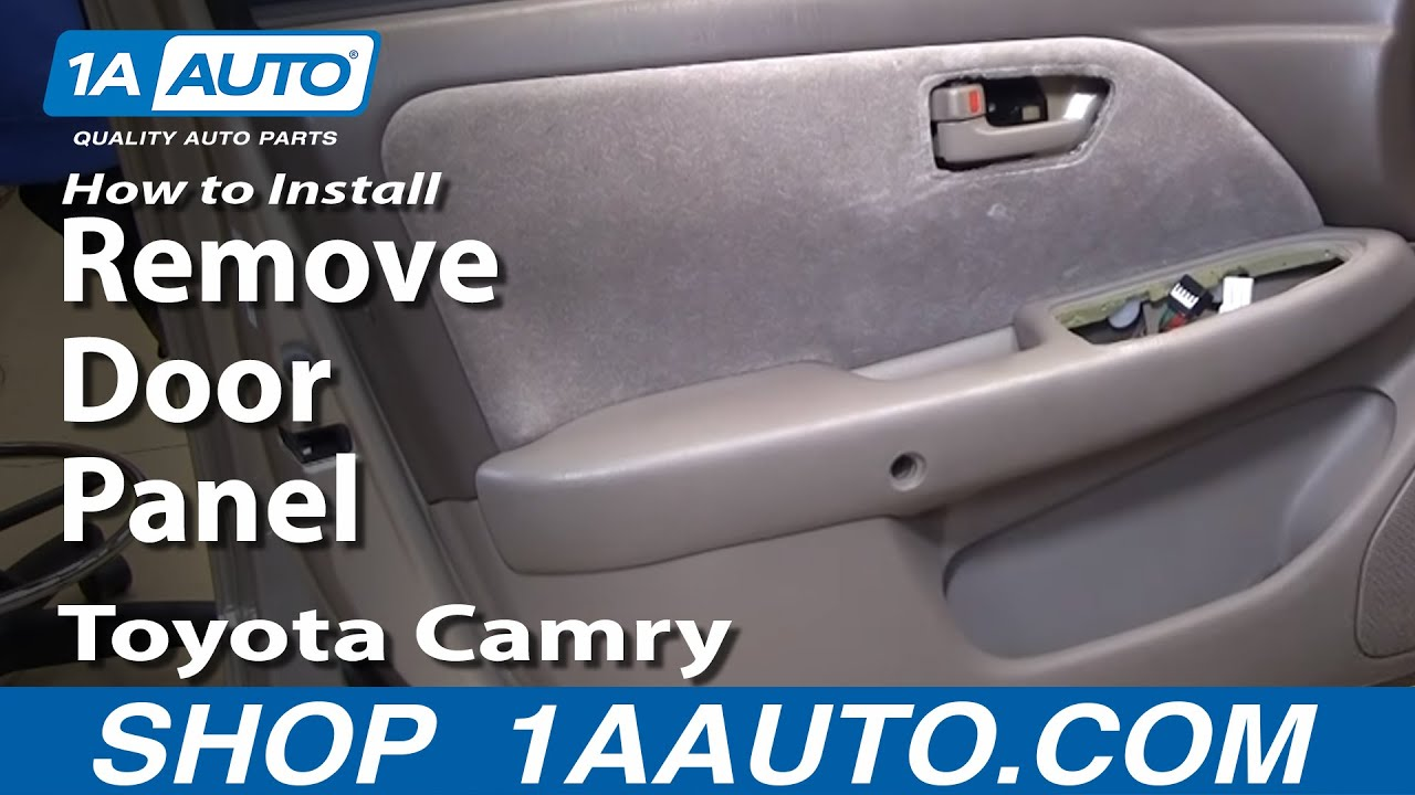 How To Remove Door Panel 97 01 Toyota Camry 1a Auto