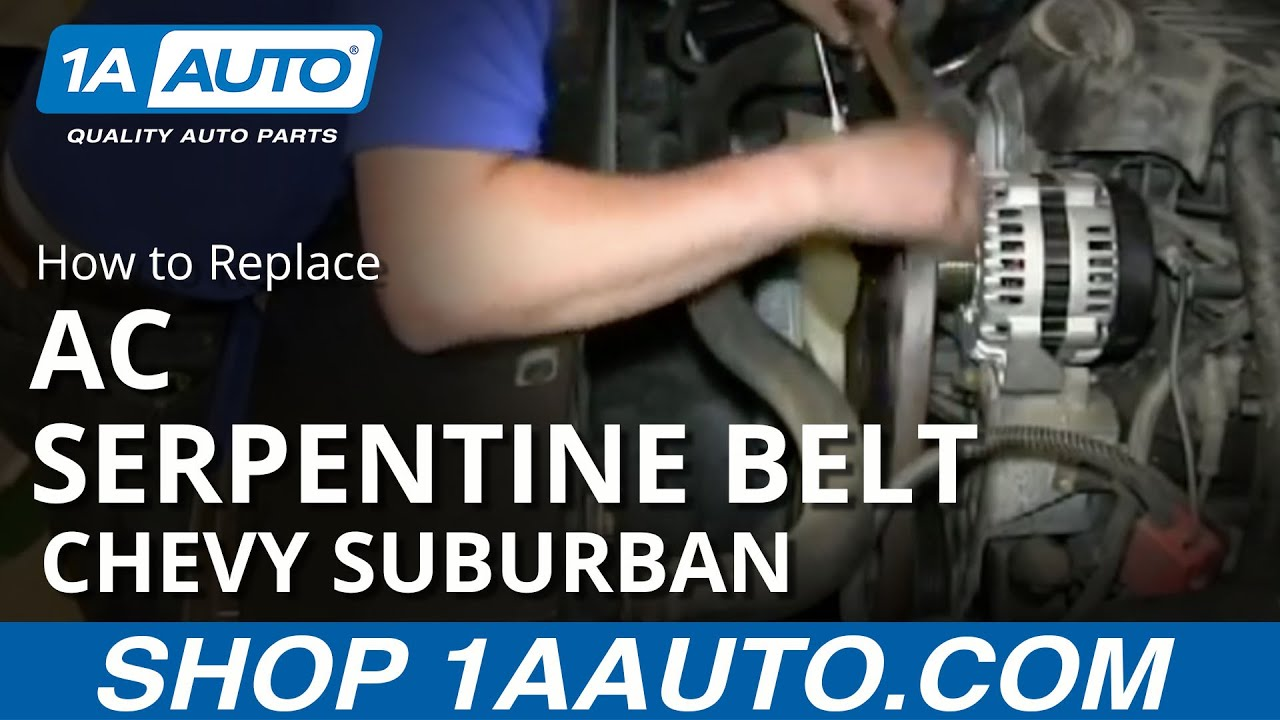 How To Replace Serpentine Belt 00 Manual Guide