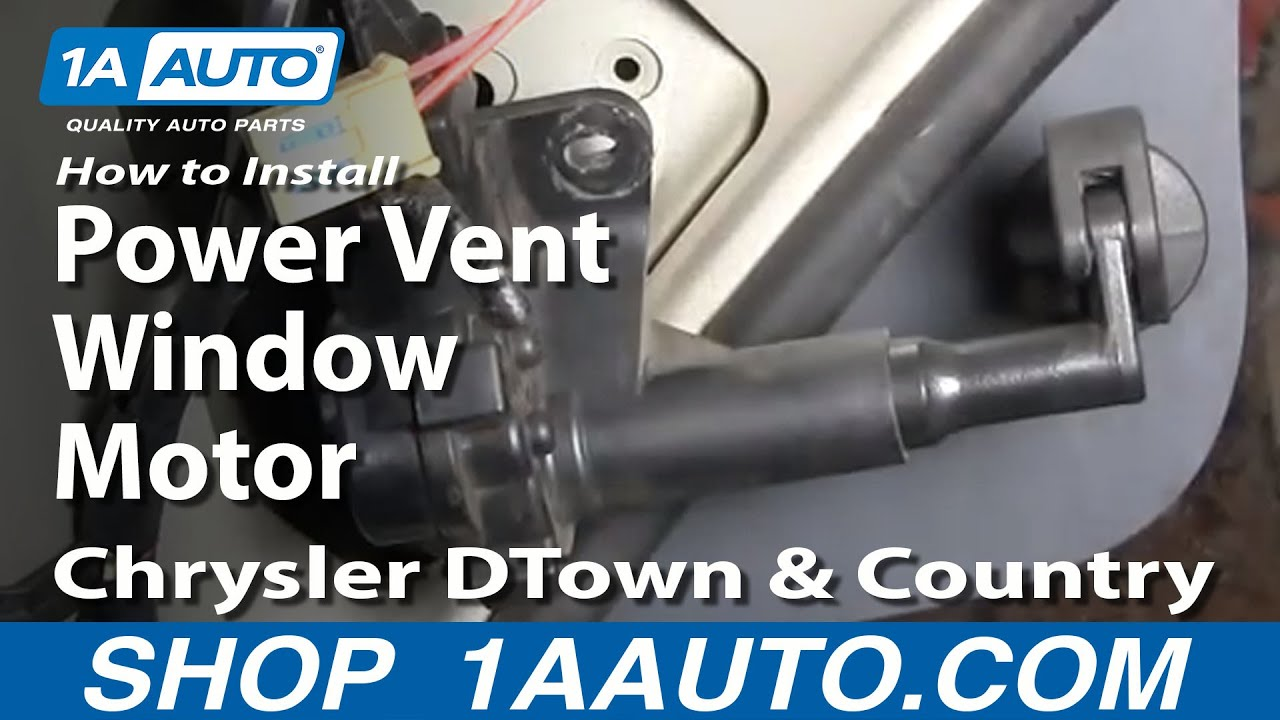 How to Replace Vent Window Motor 01-16 Chrysler Town & Country