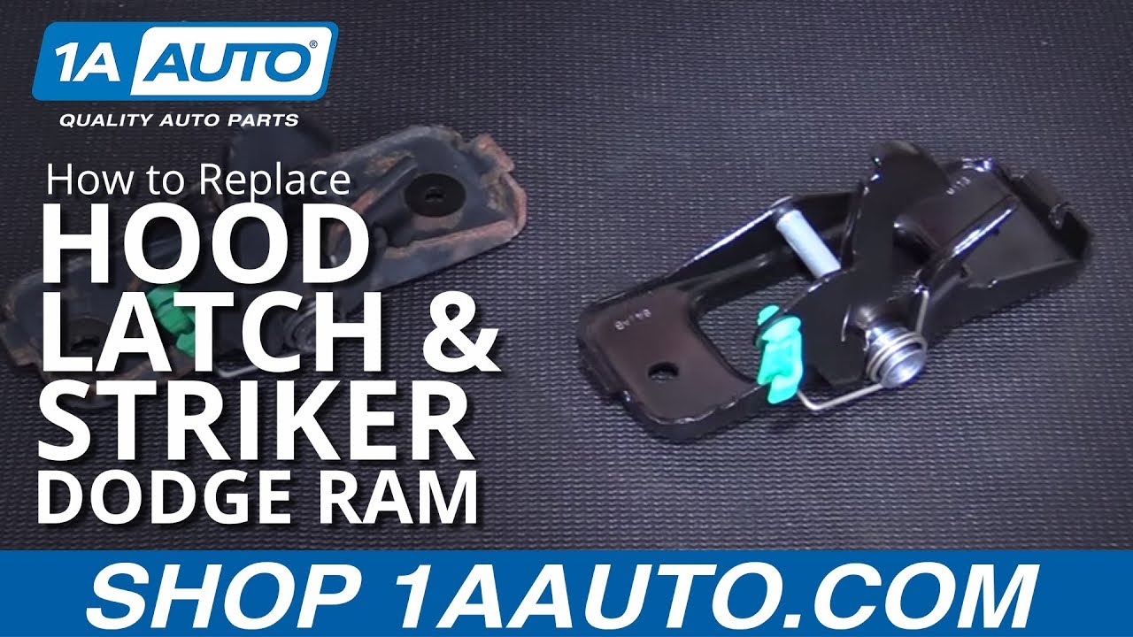 How to Replace Hood Latch & Striker 02-08 Dodge Ram