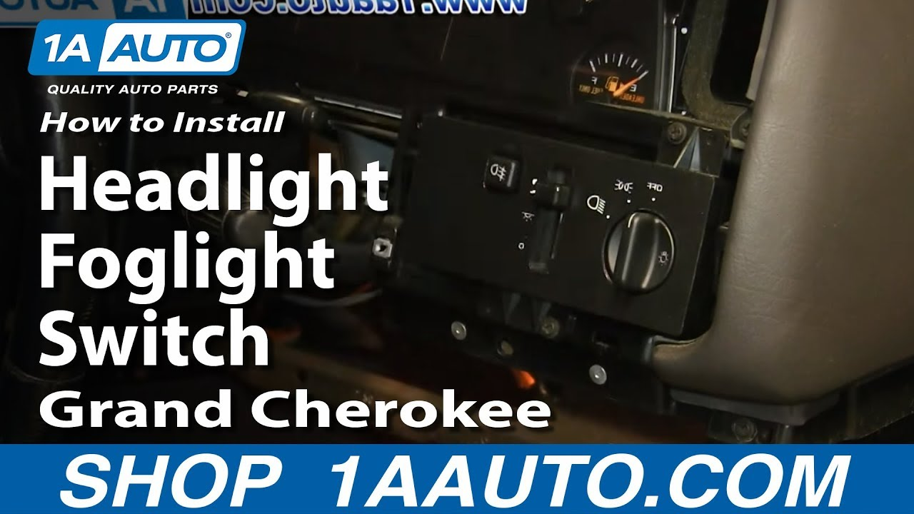 How to Replace Headlight Switch 94-98 Jeep Grand Cherokee