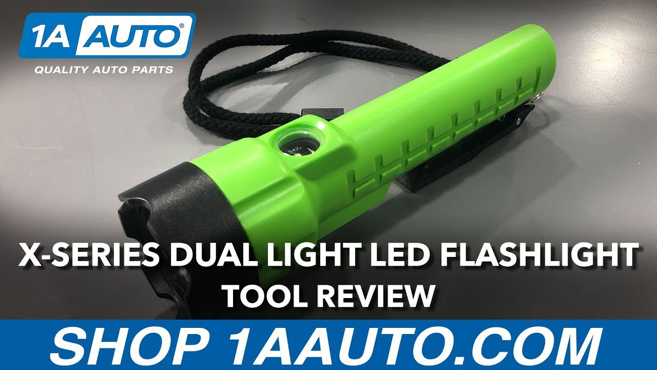 Lime Green X-Series Dual-Light LED Flashlight - Available on 1aauto.com