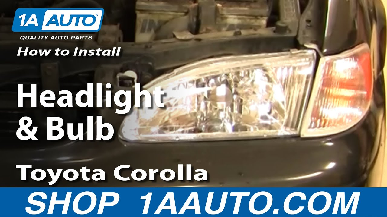 Marvelous How To Replace Headlight 98 00 Toyota Corolla 1A Auto Wiring Digital Resources Counpmognl