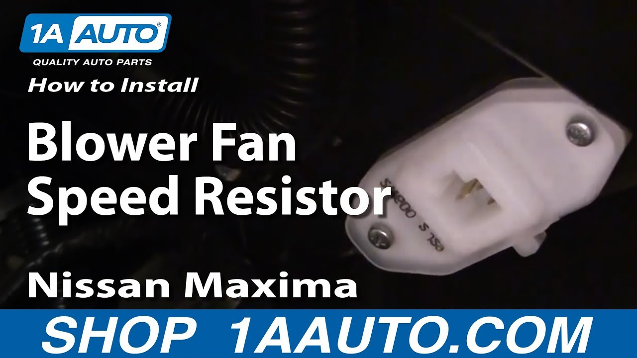 How to Replace Blower Motor Module 00-08 Nissan Maxima