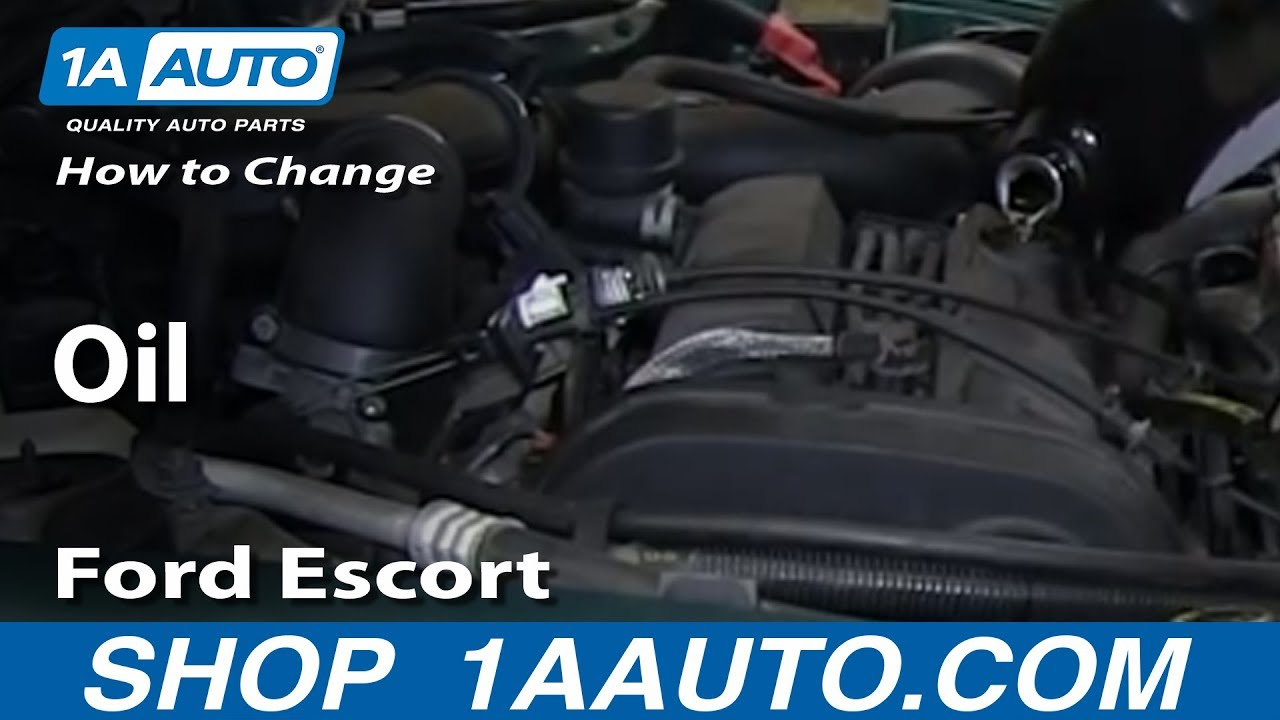 How To Change Oil 97 03 Ford Escort Zx2 2 0l Dohc 1a Auto