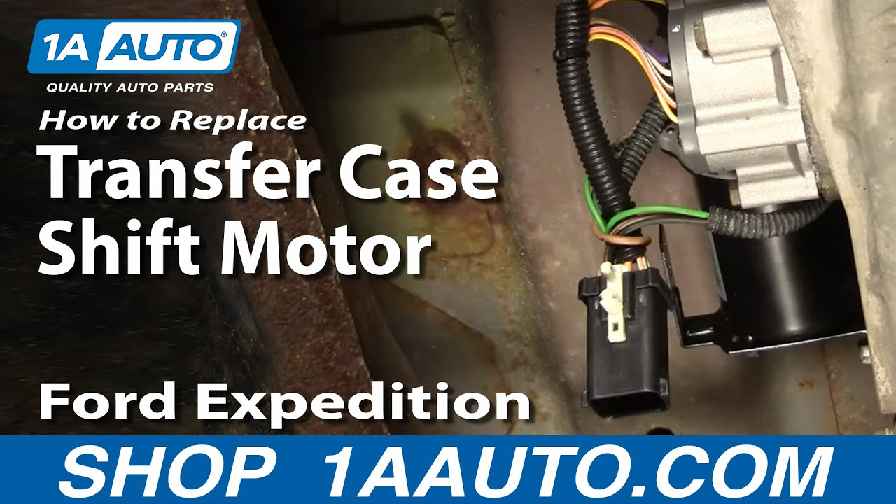 How to Replace Transfer Case Shift Motor 97-02 Ford Expedition  Navigator Wiring Harness on