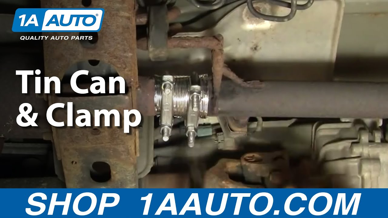 How To Temporarily Fix Exhaust Leak - Tin Can & Clamps