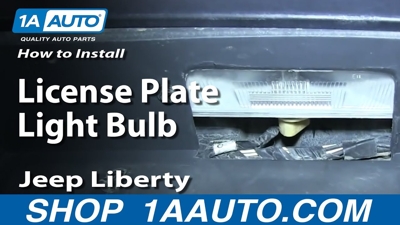 How To Replace License Plate Light Bulb 02-07 Jeep Liberty