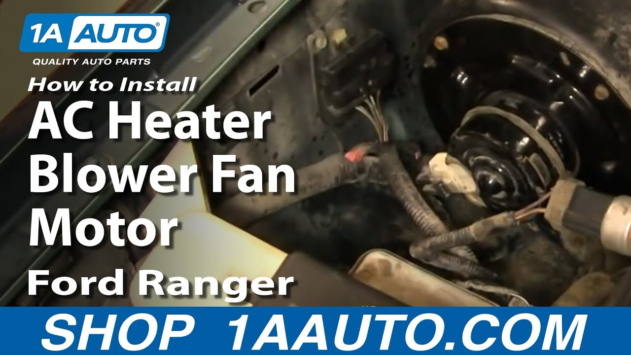 How to Replace Heater Blower Motor with Fan Cage 95-97 Ford Ranger Ac Wiring Harness B on