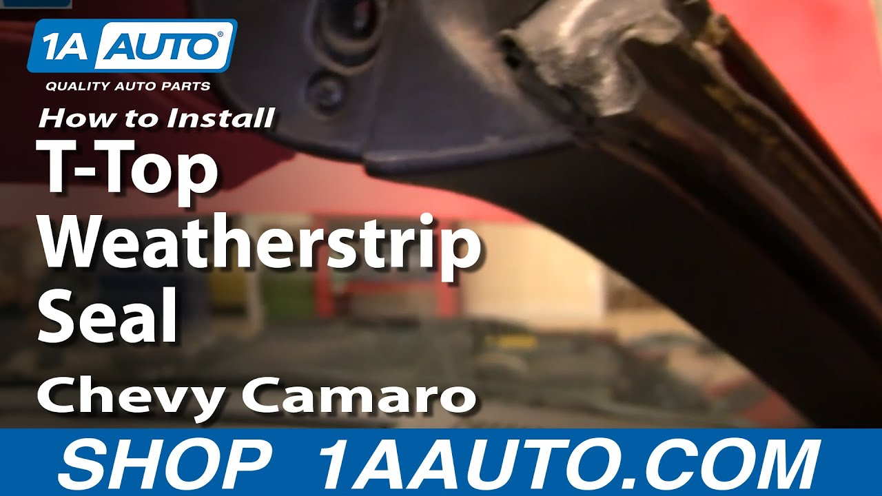 How to Replace T-Top Roof Weatherstrip Seal 82-92 Chevy Camaro