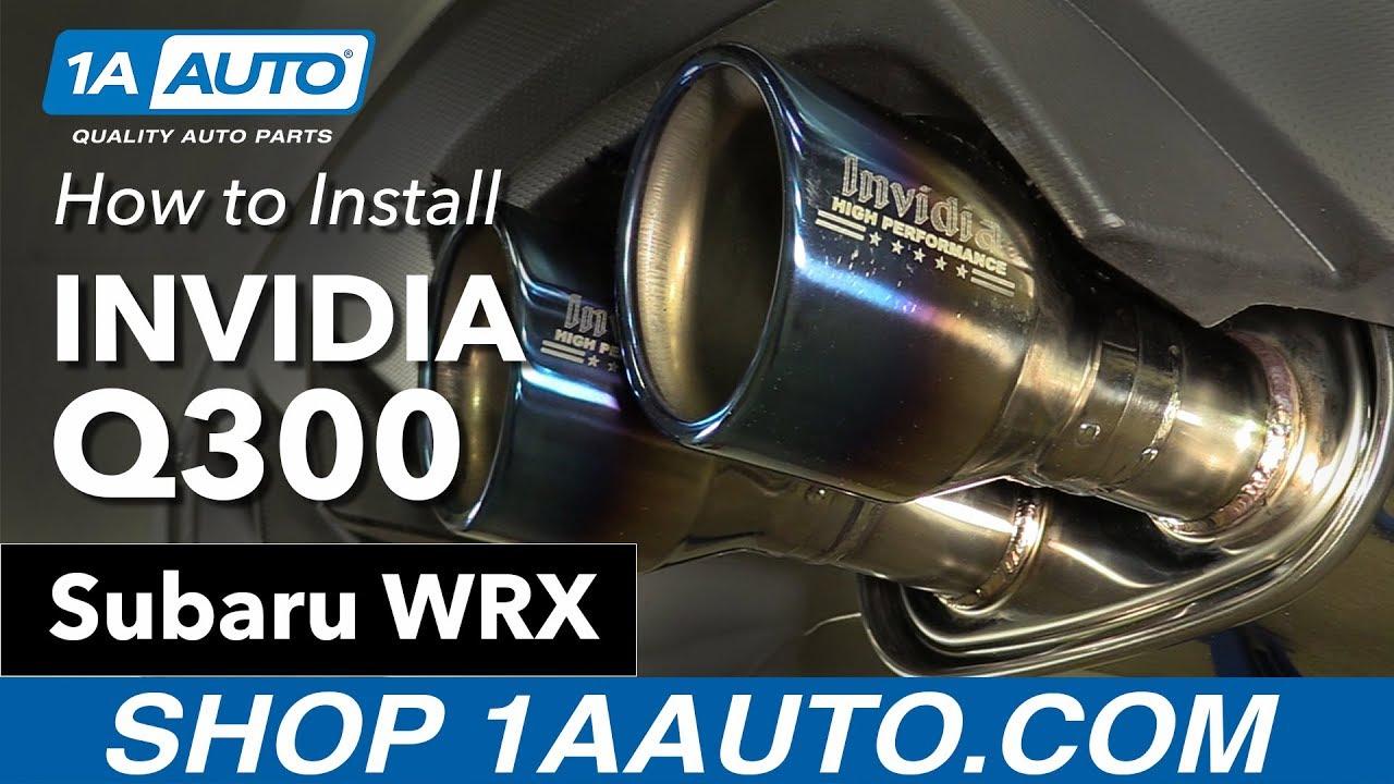 How to Install Invidia Q300 Exhaust 11-16 Subaru WRX
