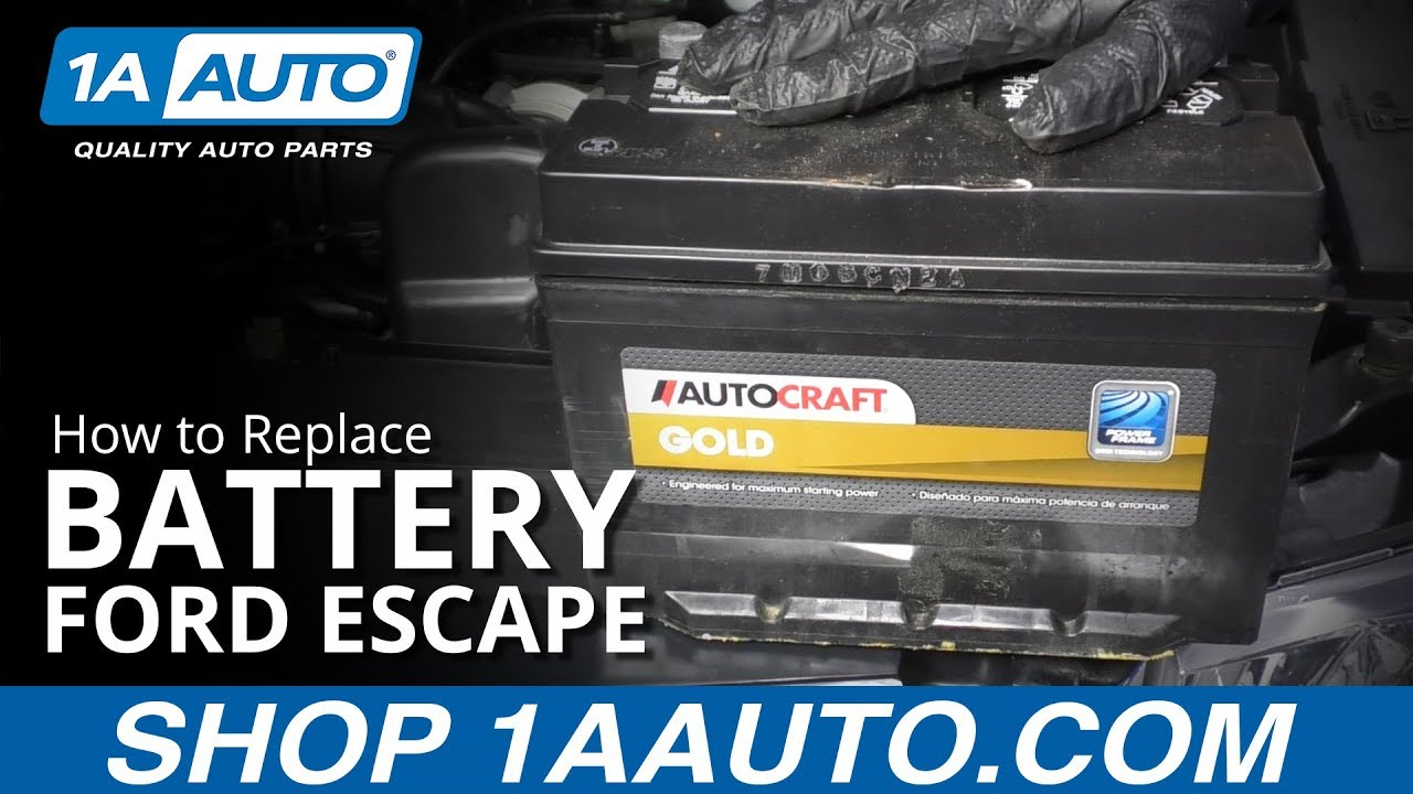 How to Replace Battery 08-12 Ford Escape