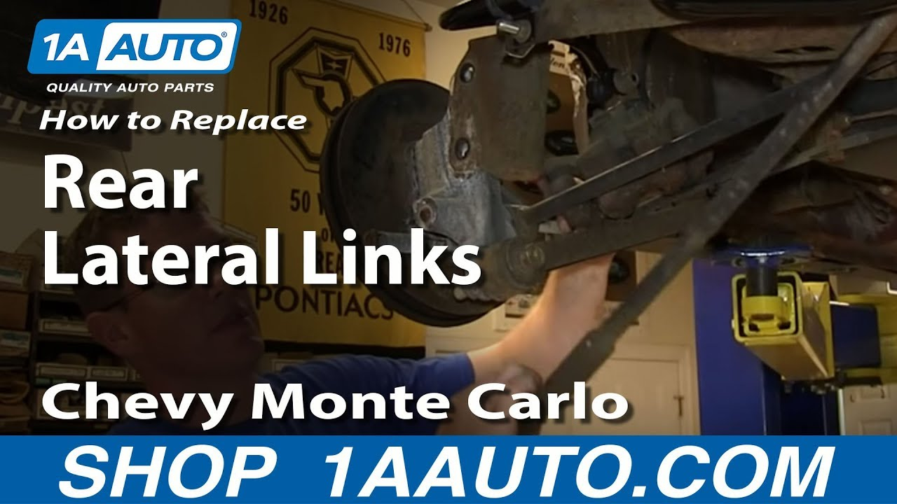 how to replace lateral links 00 07 chevy monte carlo 1a auto