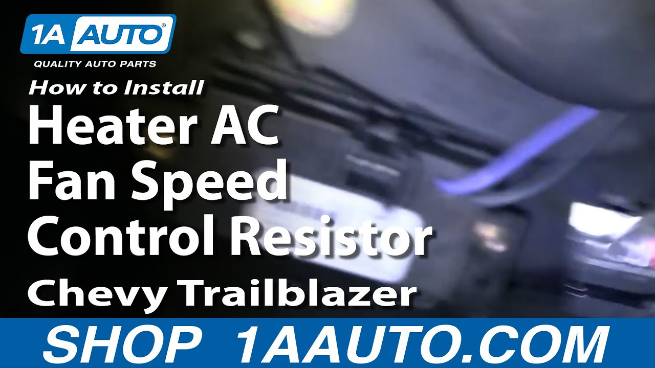 How To Install Replace Blower Motor Resistor 02-09 Chevy Trailblazer