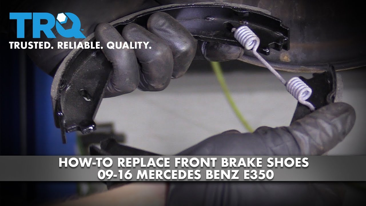 How to Replace Rear Brake Shoes 09-16 Mercedes-Benz E350
