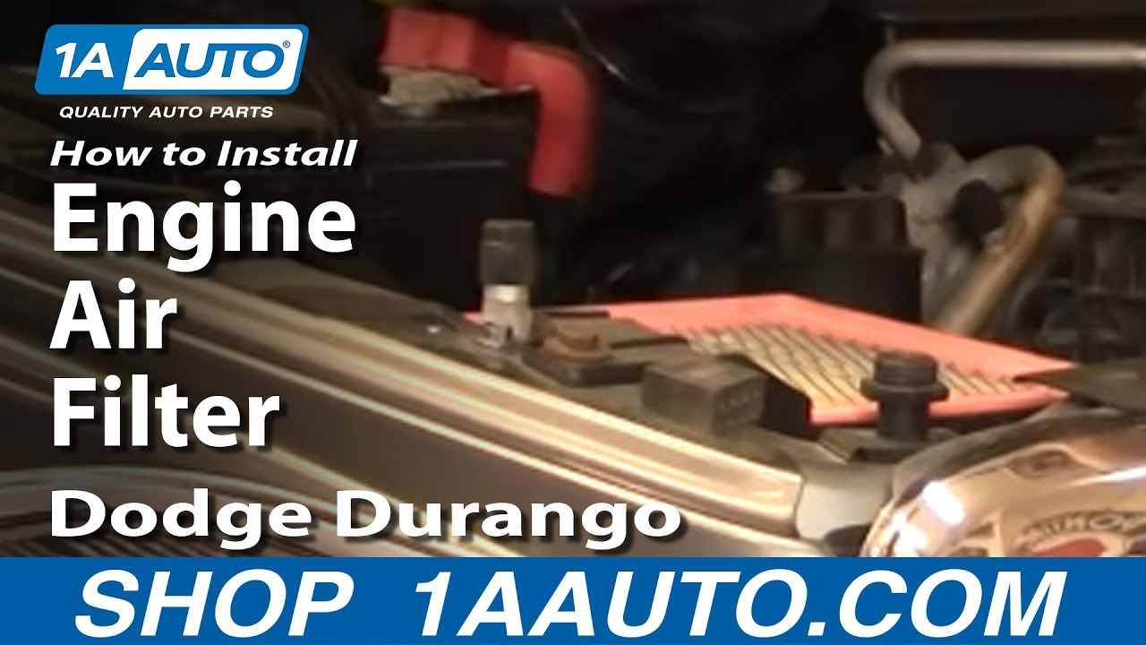 How To Replace Engine Air Filter 04-09 Dodge Durango