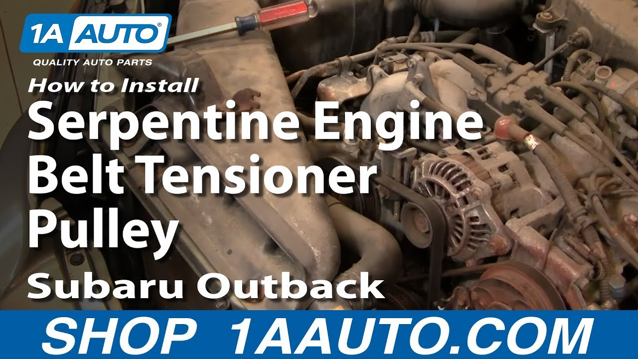 How to Replace Idler Pulley 00-09 Subaru Outback