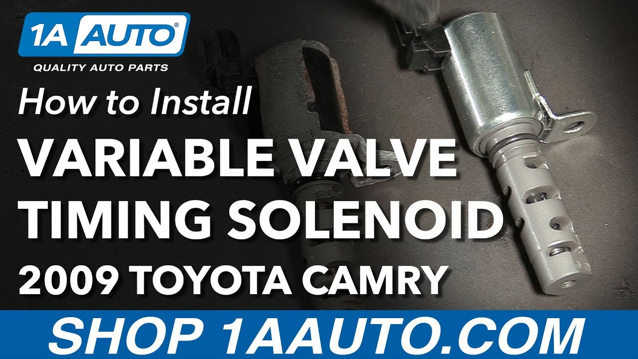 How to Replace Variable Valve Timing Solenoid 2.4L 02-09 Toyota Camry