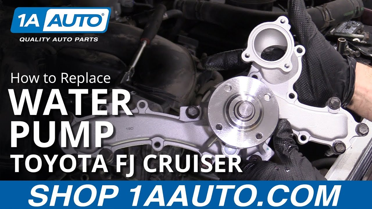How to Replace Water Pump 07-09 Toyota FJ