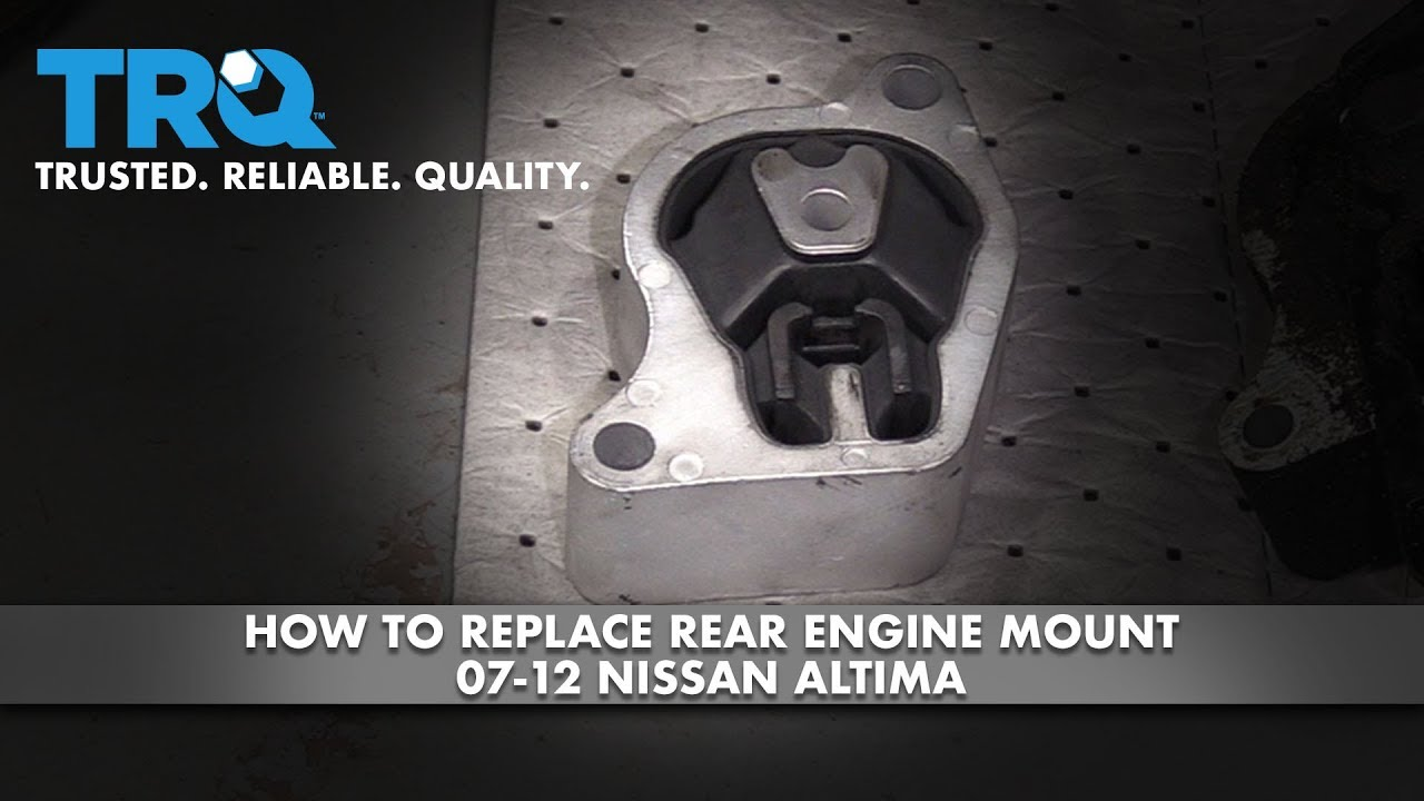 How to Replace Rear Engine Mount 2007-12 Nissan Altima