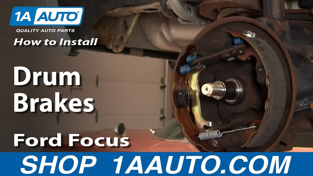 How to Replace Rear Drum Brakes 00-08 Ford Focus   1A Auto