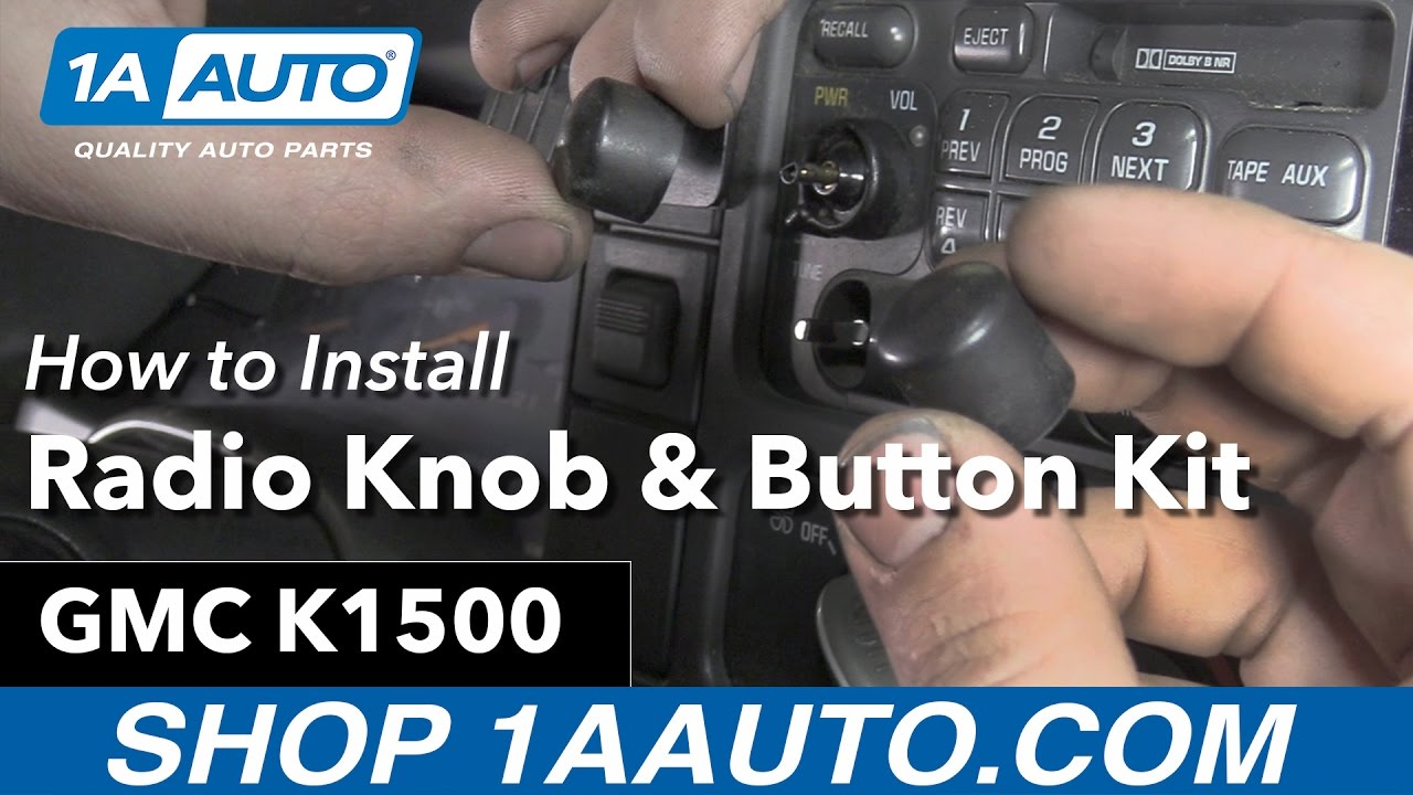 How to Replace Radio Knobs 95-99 GMC Sierra K1500