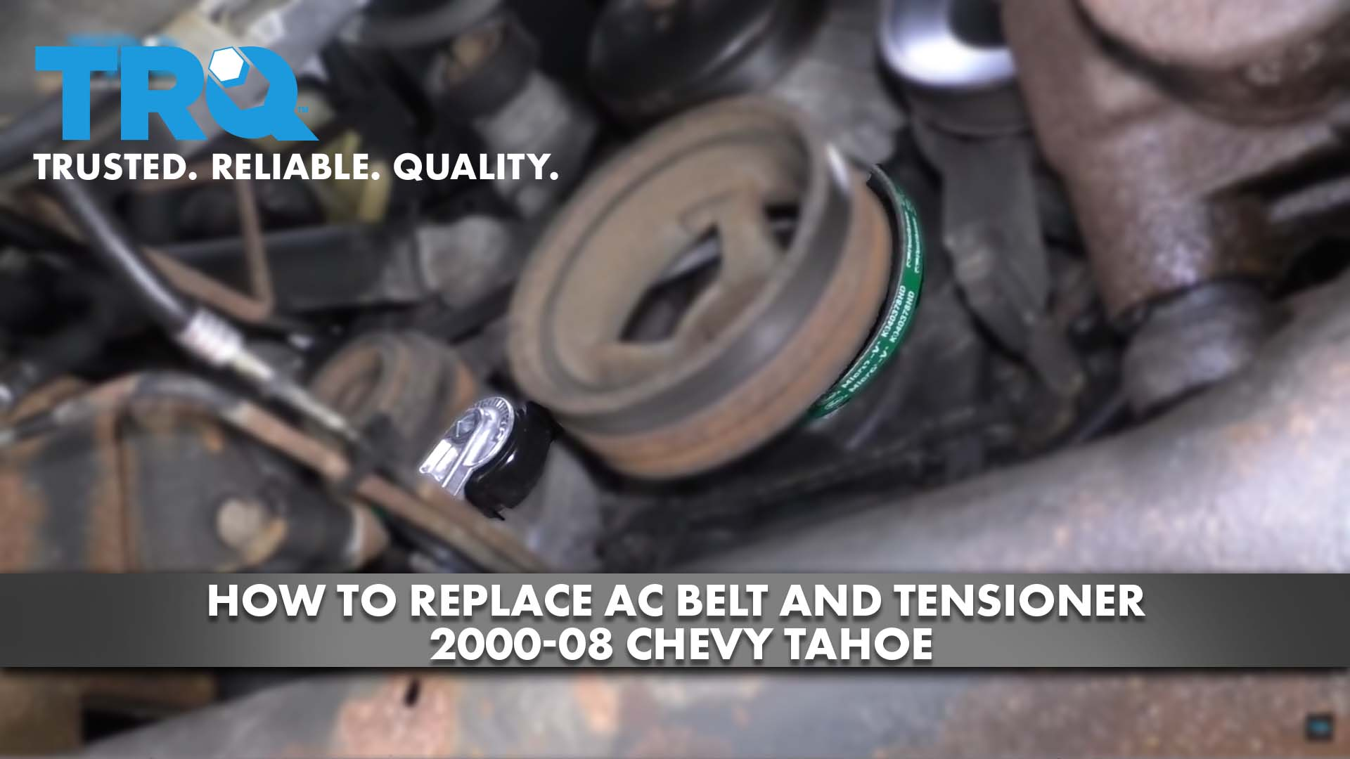 How to Replace AC Belt and Tensioner 2000-08 Chevy Tahoe