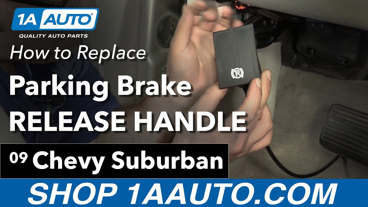 How to Replace Parking Brake Release Handle 07-14 Chevy Suburban