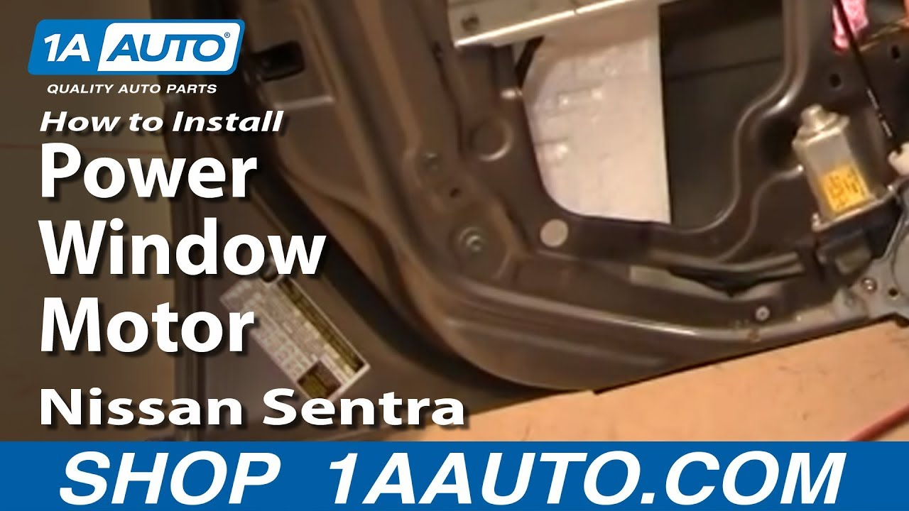 How To Replace Window Regulator 00 06 Nissan Sentra 1a Auto